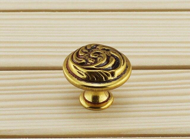 vintage antique cabinet drawer pulls door handles art deco d30mm