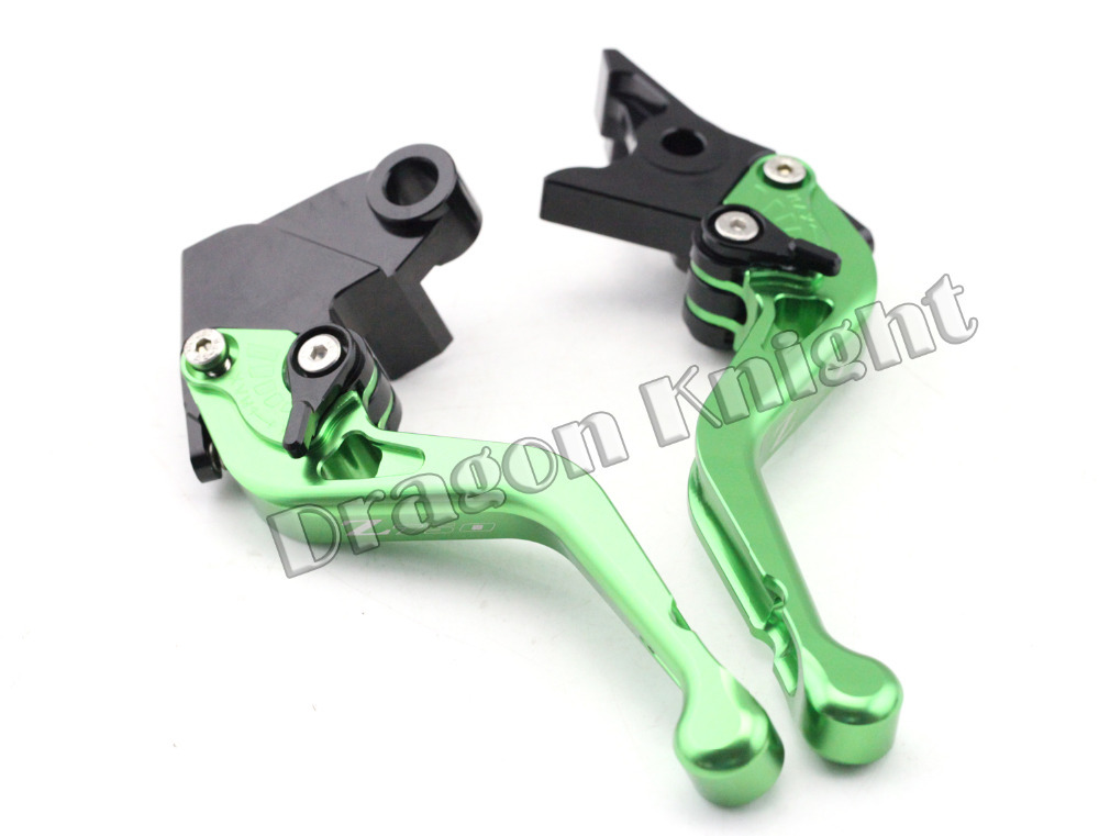 Motocycle Accessories For KAWASAKI Z 750 07-12 Short Brake Clutch Levers Green