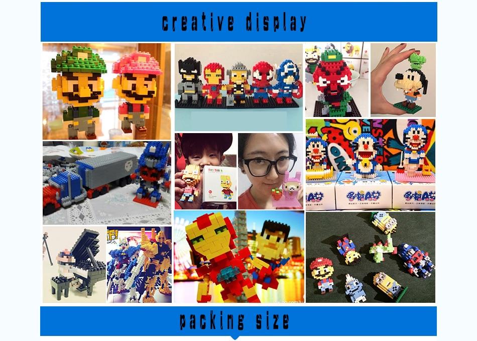 Mini Blocks Heads Figure Blocks toys  Intelligence Models Building Christmas