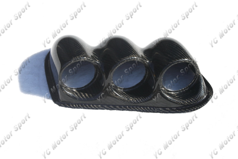 Автомобильные аксессуары из углеродного волокна RHD Triple Dash Gauge Pod подходит для 2007 2001 Evolution 7 9 VII VIII IX Triple Dash Gauge Pod