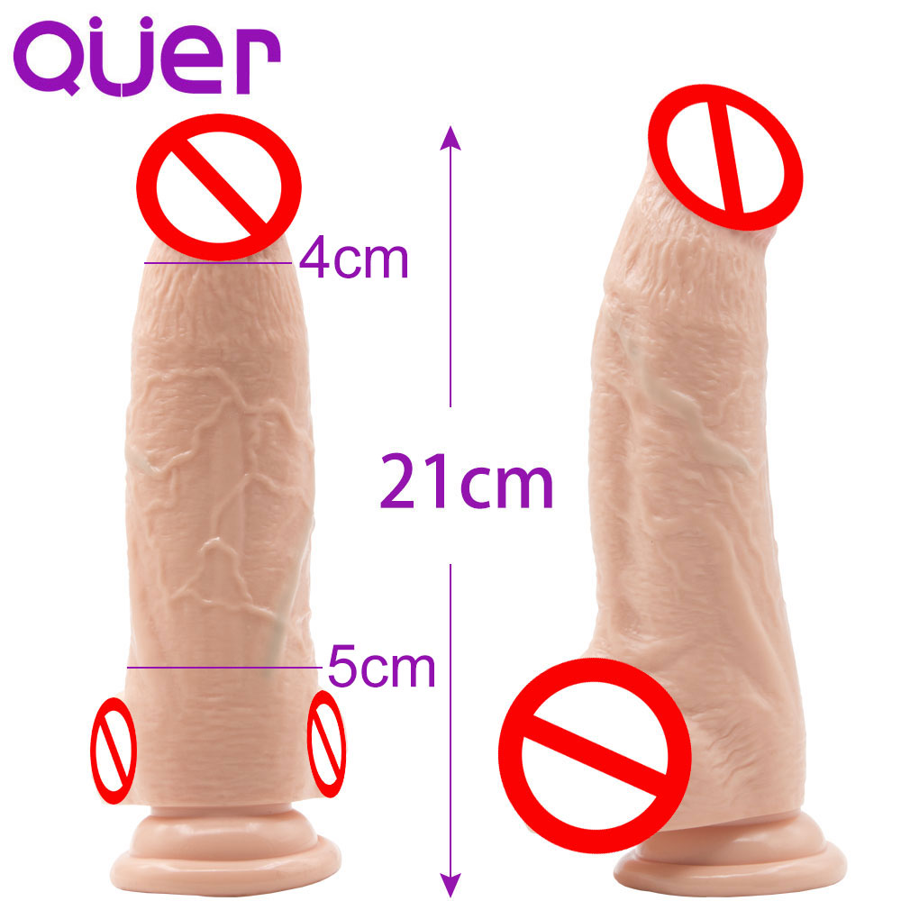 8.26 Suction Cup Phallus Realistic Dildo Big Dick Fake Penis for Women Large Dong Cock for Vaginal juguetes para adultos dildos pipedream basix rubber works 6 5 dong with suction cup прозрачный фаллоимитатор на присоске