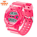 Mens Watch Brand LOGO Luxury HOSKA Children Watch Running Swimming Chronograph Stop Watch ABS Plastic Band Waterproof Watch H015