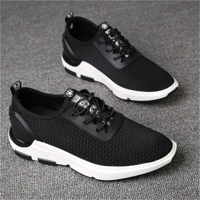 Deporte Altura Zapatos Nuevo Alto Que Casual Más Cm Elevación Verano Los Hacer Elevador Superior gris Aumento 6 Malla Black De Niños Invisible YXqSIxfS