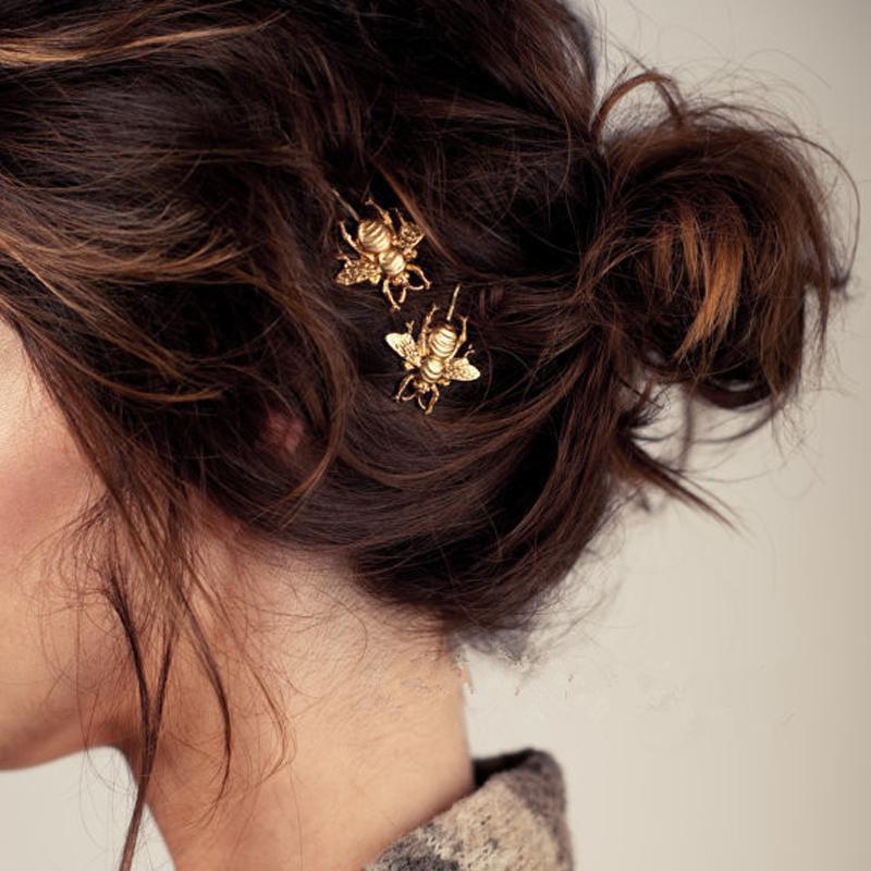 LNRRABC Fashion Golden Bee Hair Claws Barrettes Hair Clip Headwear Accessories Bridal Women Jewelry Gift acessorios para cabelo