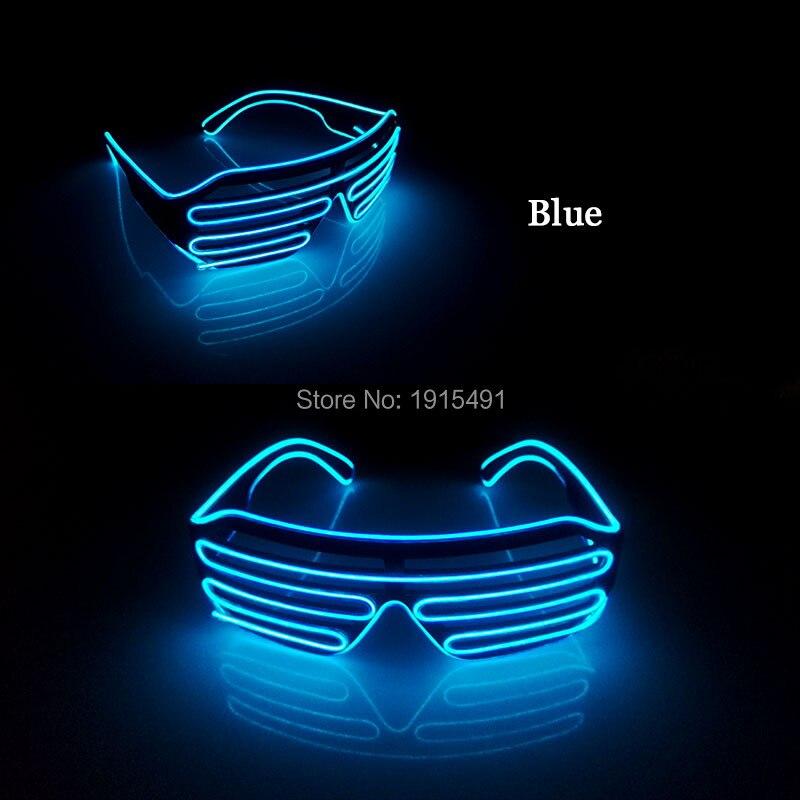 New style 10 colors popular LED glasses decoration sound active glowing EL shutter Glasses with 3V inverter for stage design