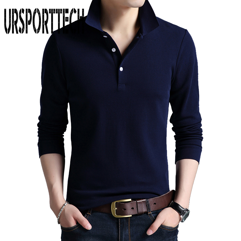 Brand Clothing New Mens   Polo   Shirt Men Business & Casual Solid Male   Polo   Shirt Long Sleeve Breathable   Polo   Shirts   Polos   Hombre