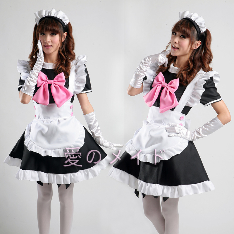 Sexy French Maid Costume Sweet Gothic Lolita Dress Anime Cosplay Sissy Maid Japanese Uniform Halloween Costumes Women Adult