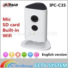 Новый Dahua 3-мегапиксельная Wi-Fi Ip-камера IPC-C35 HD 1080 P Безопасности камера Поддержка SD карт до 128 ГБ встроенный Микрофон Английский версия