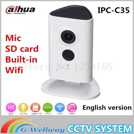 Newest Dahua 3mp Wifi IP font b Camera b font IPC C35 HD 1080p Security font