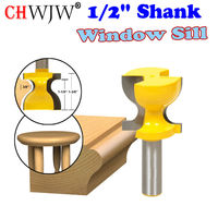 Window Sill Stool Molding Door Pull Edge Router Bit C3 Carbide Tipped Wood Cutting Tool Woodworking
