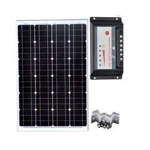 Solar Home Kit Solar Panel 60w 12v Monocrystalline Solar Battery Charger Solar PWM Controller 12v/24v 30A Z Bracket caravan camp стоимость
