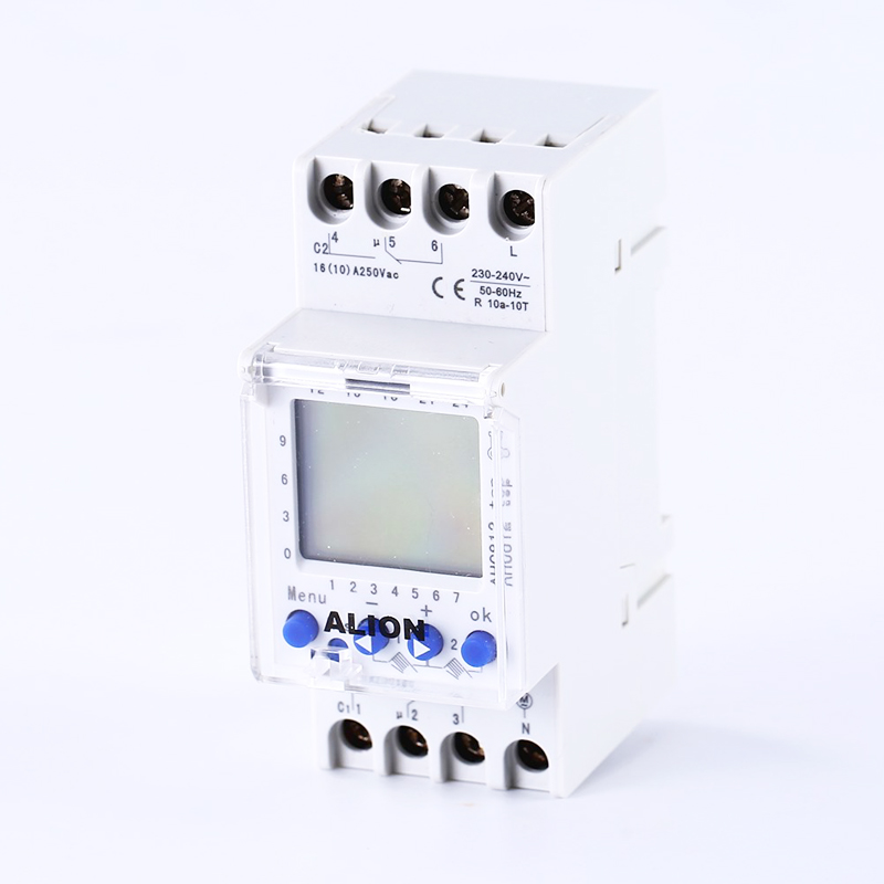 2 channel 220V-240V AC Programmable digital time switch Time relay din rail 7 days weekly 50/60Hz AHC812 multilingual AHC822 2 channel 7 days programmable digital time switch 220v timer relay control din rail mount free shipping