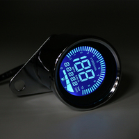 Motorcycle Retro LED LCD Tachometer Speedometer Fuel Gauge Assembly Cafe Racer Old School Bobber Touring Scooter