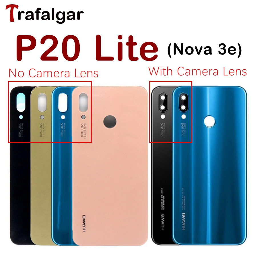 buy online be4b0 4d4b3 US $3.79 |Huawei P20 Lite Battery Cover Back Glass Door Housing Case For  Huawei P20 Lite Battery Cover P20lite Rear Panel With Camera Lens-in Mobile  ...