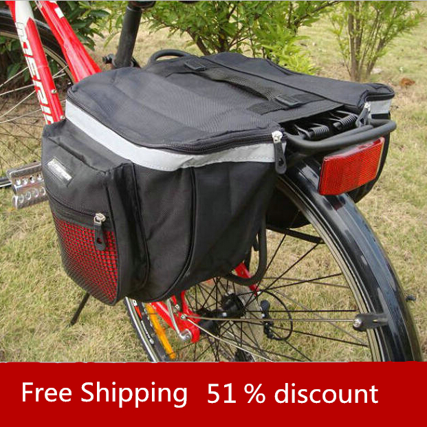 Bicycle Accessories Waterproof Saddle Bag Cycling Duffle Bicycle Bag Rear Bike Pannier Bicycle Bags 2015 Bike Cycling Riding Bag conifer v06 bike saddle bag hard abs bike seat bags waterproof fall resistant