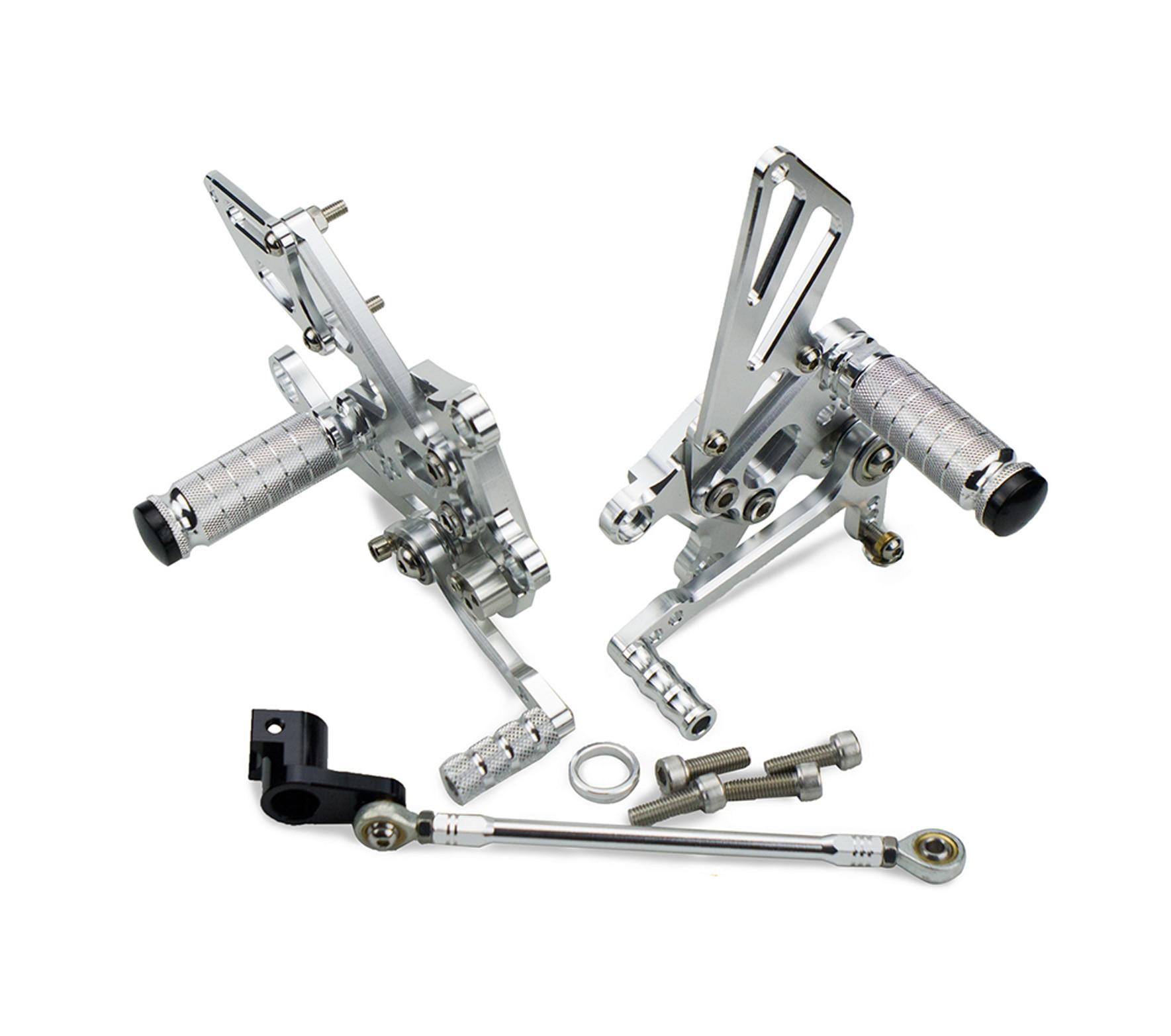 CNC  Adjustable Rear Sets Footpeg Foot Pegs Footrest For Aprilia RSV4 Factory 2009 2010 2011 2012 2013 2014 2015 2016