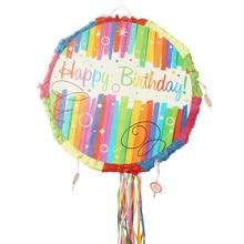 RiscaWin Fiesta de Cumpleaños Niños Piñata Fiesta Temática de Rellenos de Juguete de Dibujos Animados Decoración Prop Partido Increíble Juego de Regalo, Cadena de tracción.
