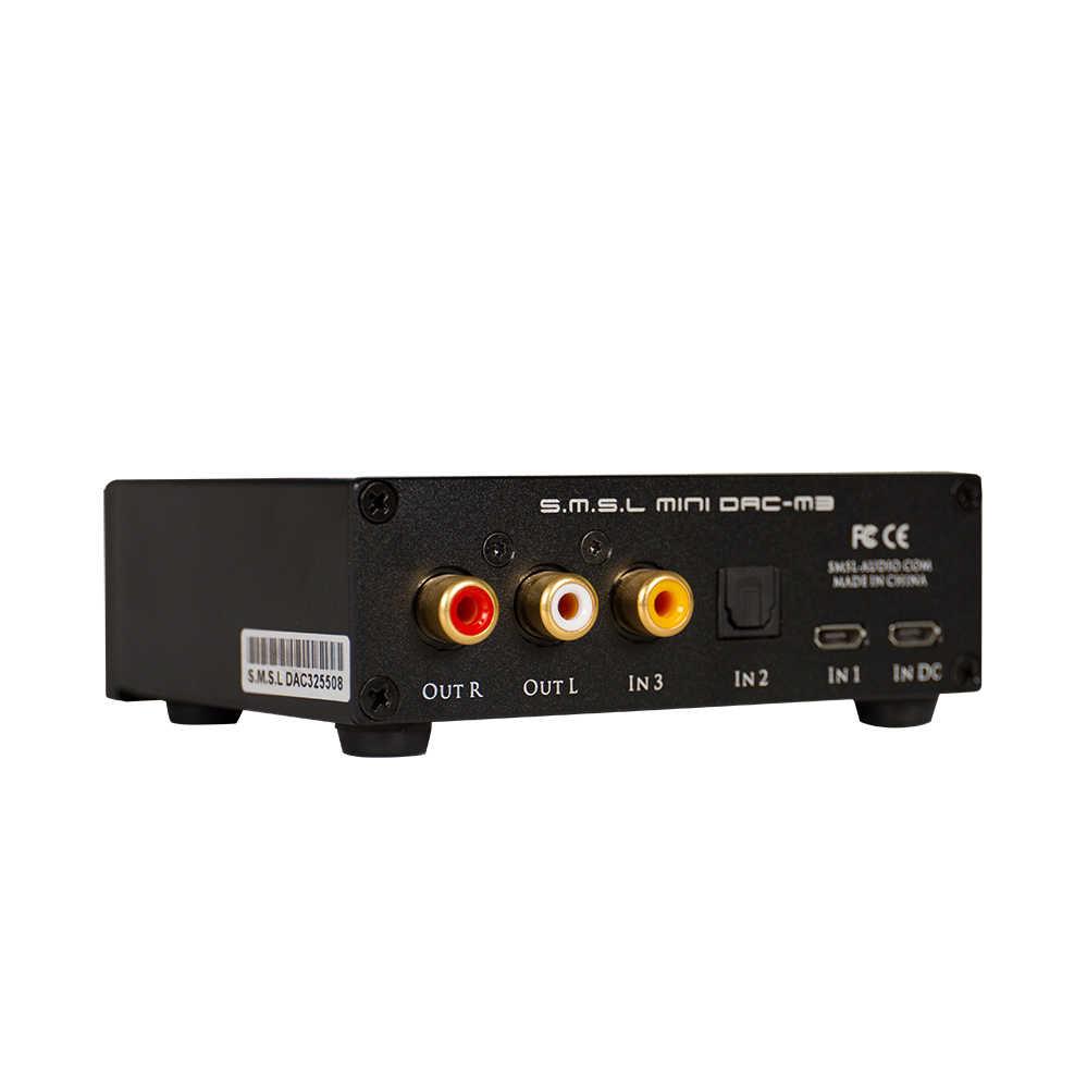 SMSL M3 wielofunkcyjny DAC All-in-one słuchawki dekoder dźwięku wzmacniacz zasilany przez USB z optyczne USB z włókna wejście koncentryczne