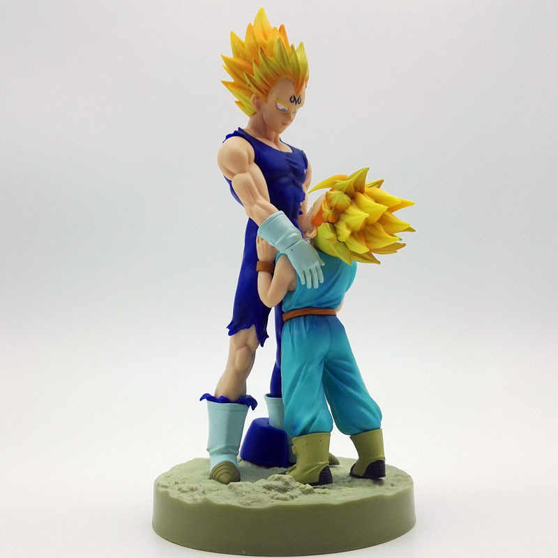 20Cm Dragon Ball Z Super Saiyan Vegeta En Trun Vader Met Zoon Goku Pvc Action Figures Dramatische Showcase 4th seizoen
