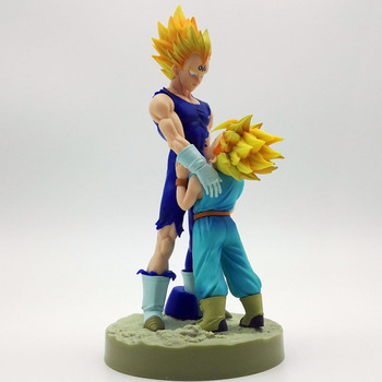 Экшн-фигурки Dragon Super Saiyan Vegeta и Trun Father с сыном Гоку из ПВХ, экшн-фигурки, образец 4-го сезона, 20 см