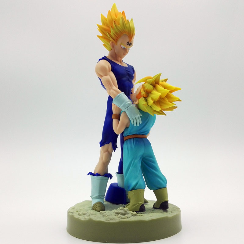 20cm Dragon Ball Z Super Saiyan Vegeta and Trun Father With Son Goku PVC Action Figures Dramatic Showcase 4th Season 20cm Dragon Ball Z Super Saiyan Vegeta and Trun Father With Son Goku PVC Action Figures Dramatic Showcase 4th Season