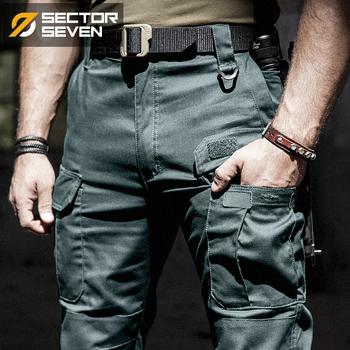 2020 nowe spodnie taktyczne IX5 męskie spodnie na co dzień spodnie bojowe SWAT Army aktywne do pracy do pracy w wojsku bawełniane męskie spodnie męskie tanie i dobre opinie SECTOR SEVEN Cargo pants COTTON spandex Midweight 30 - 39 Pełnej długości Kieszenie Suknem REGULAR Military Mieszkanie