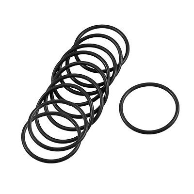 10 Pcs 36mm x 2.4mm Black Silicone O Rings Oil Seals Gaskets