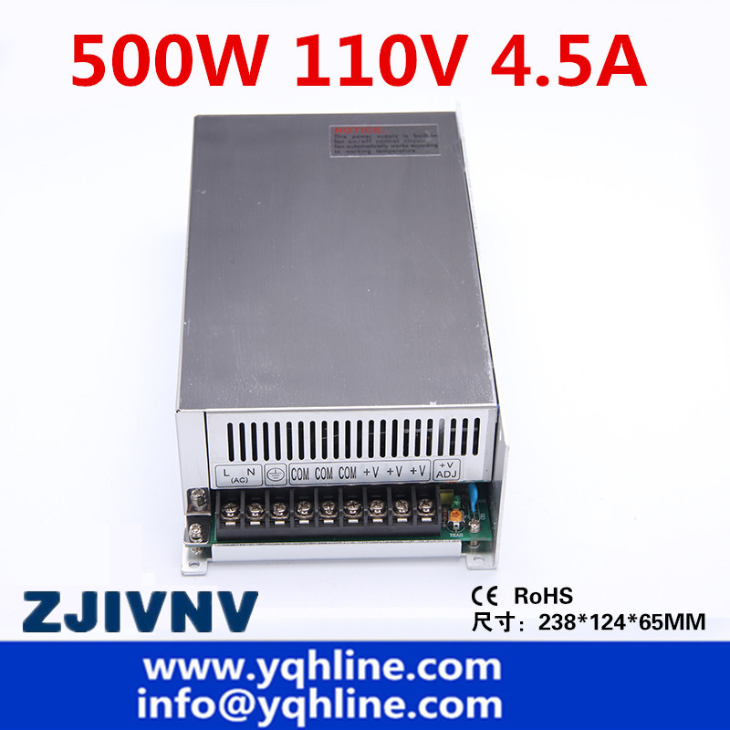 500w 110v 4.5a programmable switching power supply ac to dc for LED strip ight, CCTV Camera and industrial (s-500-110)500w 110v 4.5a programmable switching power supply ac to dc for LED strip ight, CCTV Camera and industrial (s-500-110)