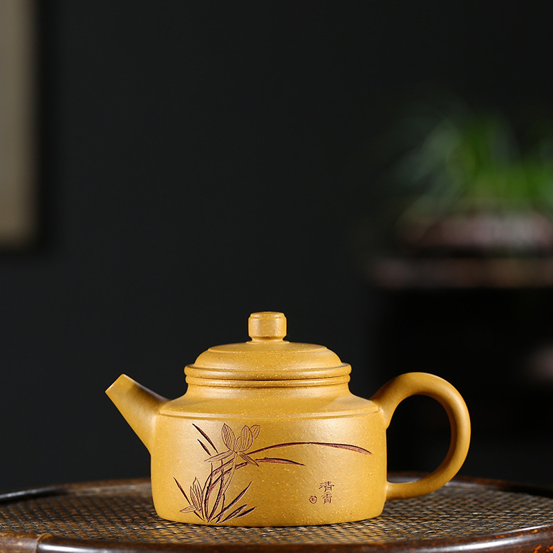 Real Yixing Purple Sand Pot All Hand-made Raw Mine Gold Section Nide Bell Pot Tea Making Health Pot Kungfu Pot Tea SetReal Yixing Purple Sand Pot All Hand-made Raw Mine Gold Section Nide Bell Pot Tea Making Health Pot Kungfu Pot Tea Set