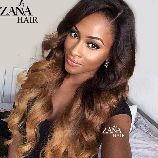 0c89f4580 Highlight Blonde Brazilian Virgin Hair Lace Wig Wet Wavy Glueless Ombre  Full Lace Human Hair Wigs