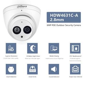 Image 5 - Dahua POE H.265 6MP Dome IP Camera IPC HDW4631C A  Built in MIC IR50m IP67 IK10 2.8mm 3.6mm 6mm