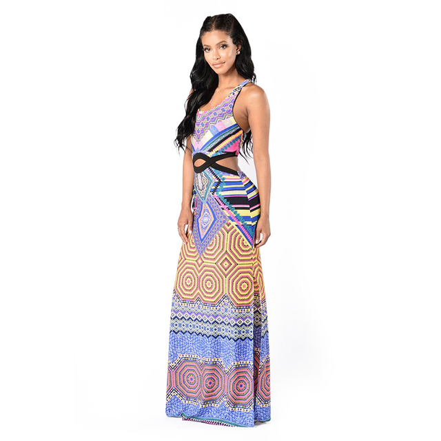 US $31.61 |Summer Dress Plus Size Maxi 2017 New Fashion Bohemian Style Maxi  Dress for Women 8041 Long African Print Dresses -in Dresses from Women\'s ...