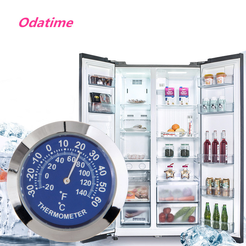 Odatime Anti-scrape Elegant Vehicles Thermometer Hygrometer Indoor Outdoor Temperature Humidity Meter for Fridge Refrigerator