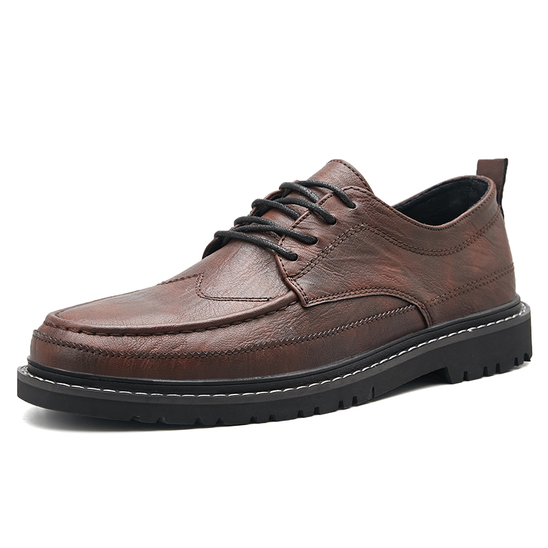 High Quality Men Leather Shoes Handmade Luxury Formal Shoes Male Rubber Sole Female Single Spring Autumn