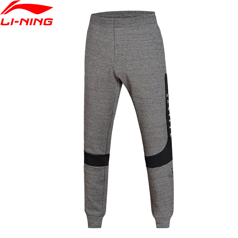 (Clearance)Li-Ning Men BAD FIVE Basketball Sweat Pants Regular Fit Interlock Knit Comfort LiNing Sports Pants AKLM607 MKY315