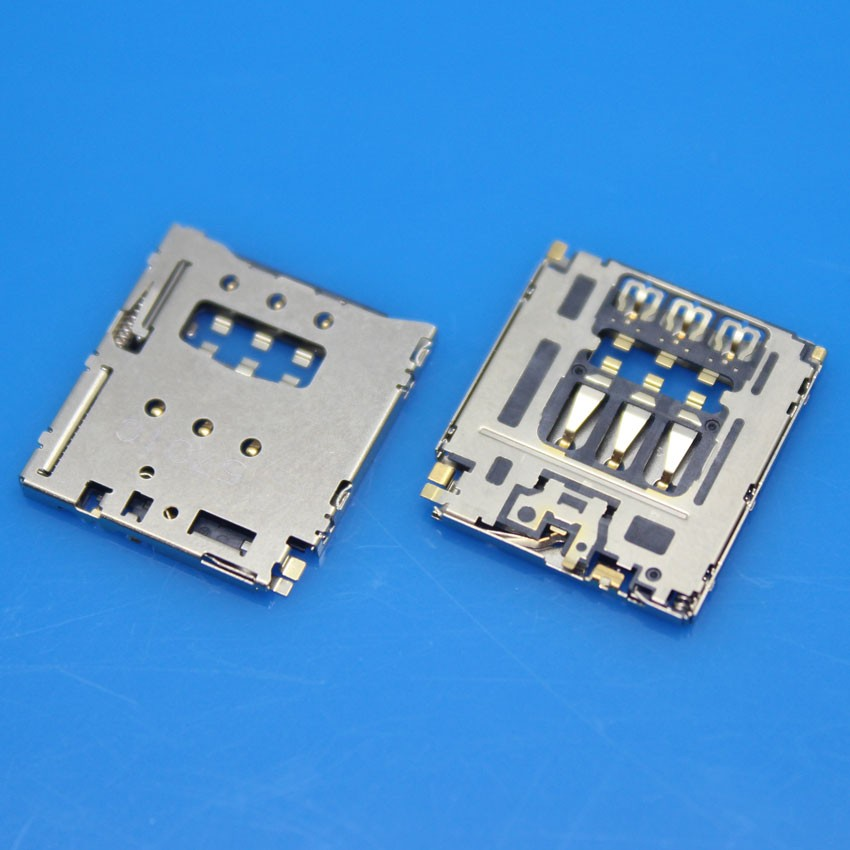 cltgxdd 10pcs/lot Sim Card Reader Tray Socket Slot Holder Modul for Sony for Xperia M2 D2303 D2305 D2306