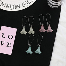 Korean Japan Acrylic Morning Glory Flower Solid Fresh Woman Girls Dangle Drop Earrings Fashion Jewelry-LAF flavoring for panel fresh way morning dew sport goal ksp02