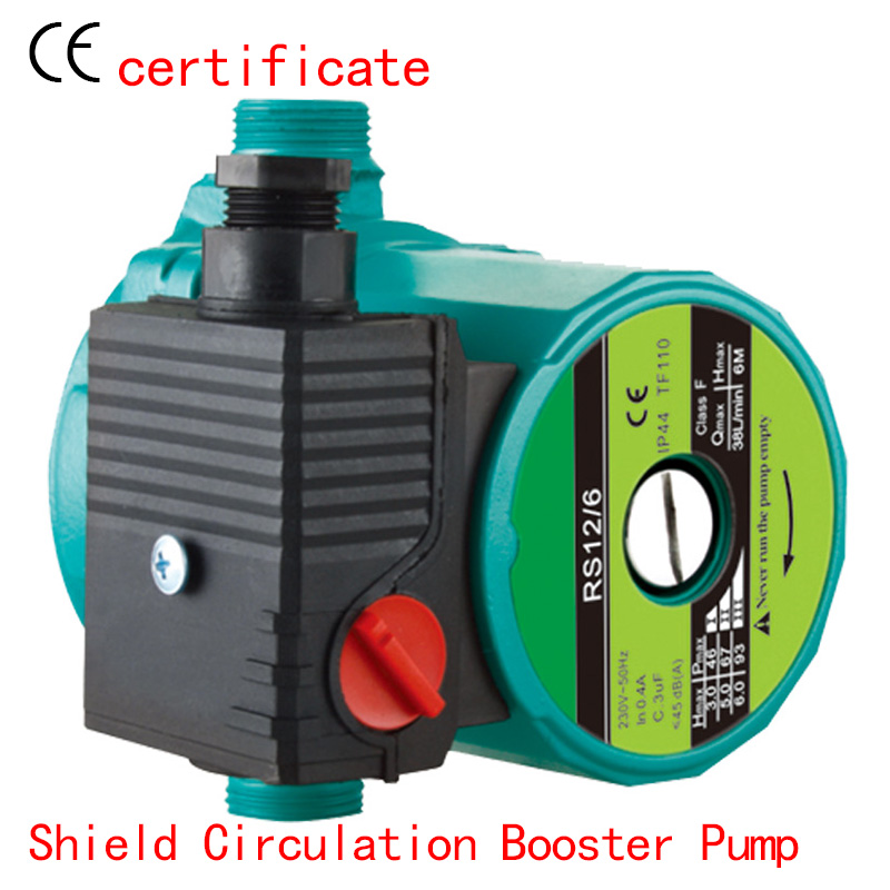 CE Approved shield circulating booster pump RS12-6, pressurized with industrial equipment, air condition, solar , warm water