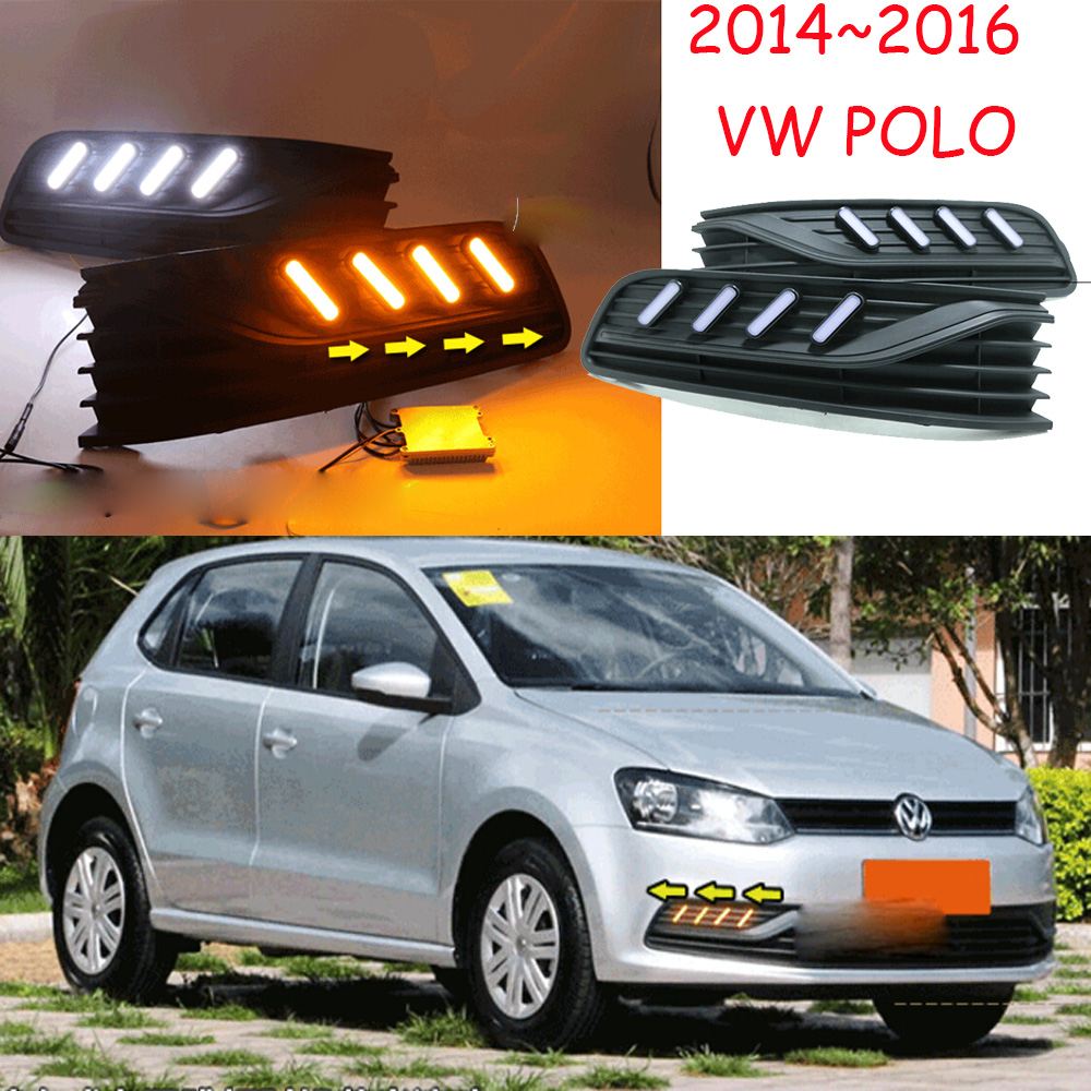 POLO daytime light;2014~2016 Free ship!LED,POLO fog light,Touareg,sharan,Golf7,routan,saveiro,polo,passat,magotan,jetta;POLO tiguan taillight 2017 2018year led free ship ouareg sharan golf7 routan saveiro polo passat magotan jetta vento tiguan rear lamp