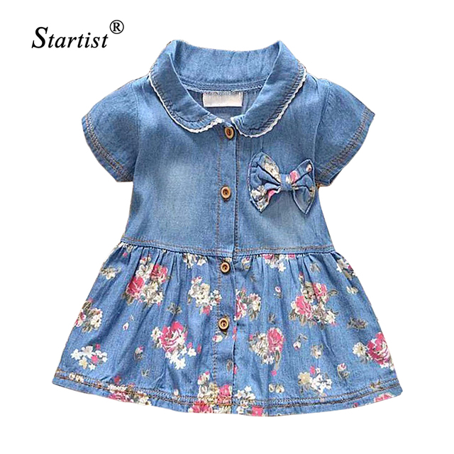 1323bc045 Startist Baby Girl Dress Spring Baby Denim Dress For Infants Casual Toddler  Baby Dresses Girls Clothes Vestido Infantil