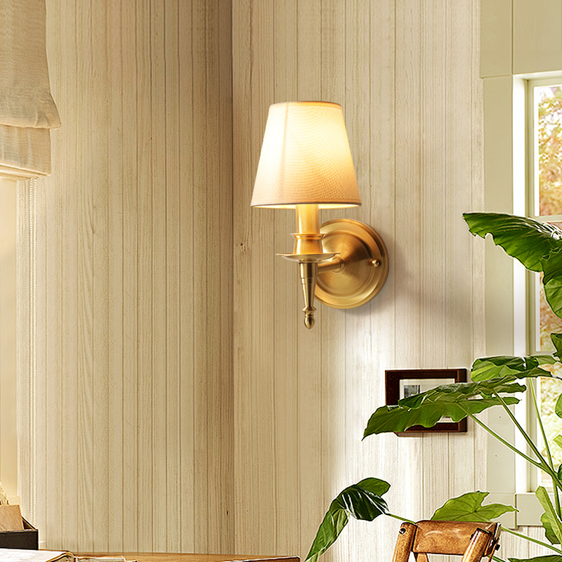 American All Copper led Wall Lamp Bedroom Light Bedside Lamp Living Room Wall Light Bathroom led Mirror Light Bedside Wall lamp new high end classical chinese style acryl aluminum led mirror light for bathroom bedroom living room wall lamp 1026