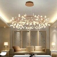 Современный светодио дный светодиодный подвесной светильник скандинавские акриловые ветви столовая кухня свет дизайнерские промышленные