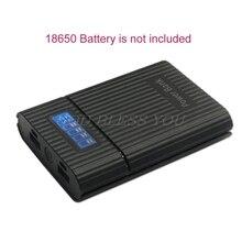 Anti reverso diy power bank box 4x18650 bateria display lcd carregador para o iphone diy caso da estação de energia para o telefone inteligente