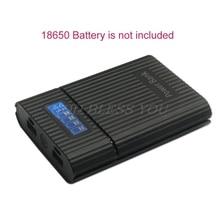 Caja de Banco de energía para teléfono inteligente, cargador de batería 4x18650, pantalla LCD, para iphone, bricolaje