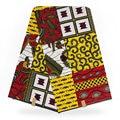 Cotton Fabric Telas Tissu Tecido African Super Wax Tela Costura Ankara Fabrics Stoff Waterproof Textile Material Stof W00115-1