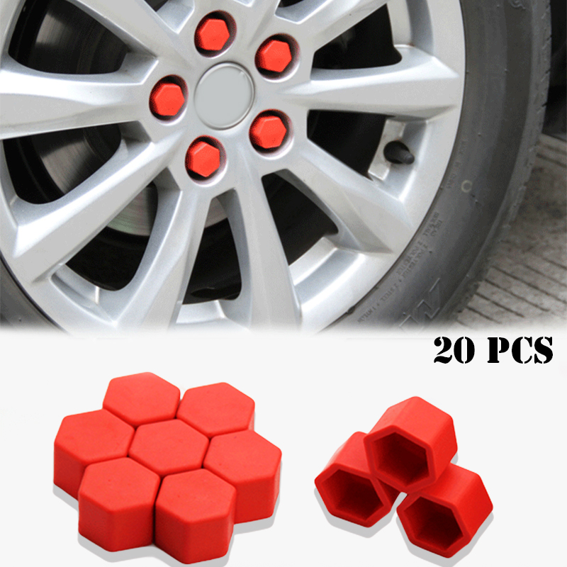 Silica Gel Wheel Nuts Covers Protective Bolt Caps Hub Screw Protector For Mazda 2 3 5 6 Series CX-5 CX-3 CX-7 CX-9 Atenza 20pcs