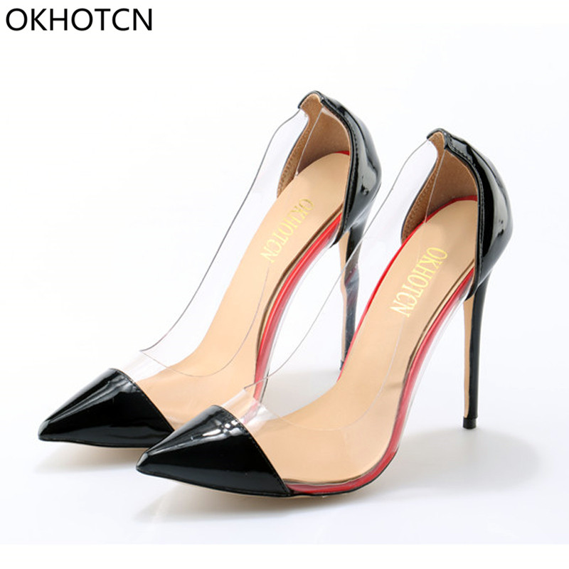 Transparent Pointed Toe 10 CM High Heel Wedding Shoes