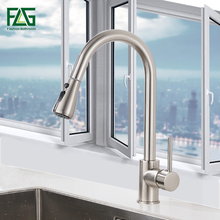 купить Kitchen Faucets Brushed Nickel Single Handle Pull Out Kitchen Tap Single Hole Handle Swivel 360 Degree Water Mixer Tap по цене 4413.94 рублей