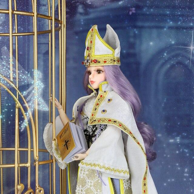 TAROT CARD Major Arcana The Hierophant joint body doll purple hair 34cm east barbi 1