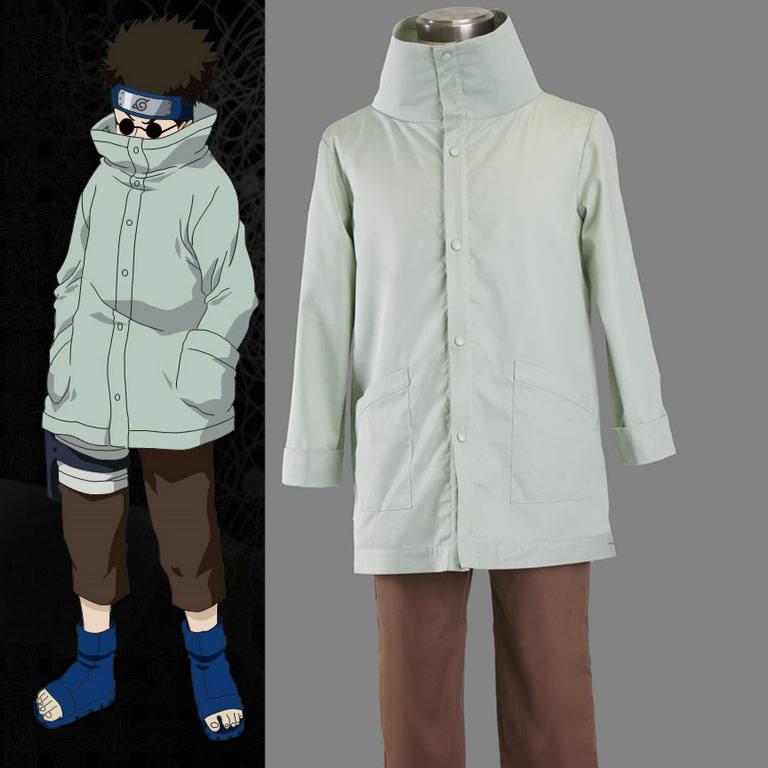 NARUTO Aburame Shino Cosplay Costumes Coser Japanese Anime Role Play Coat & Pants Uniform Qutfit Suit